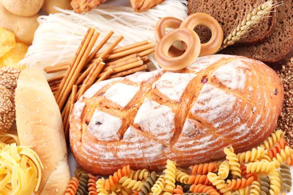 Foods high in carbohydrates.