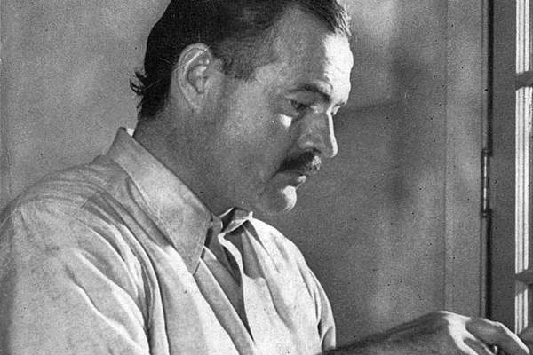 Photo of Ernest Hemingway.