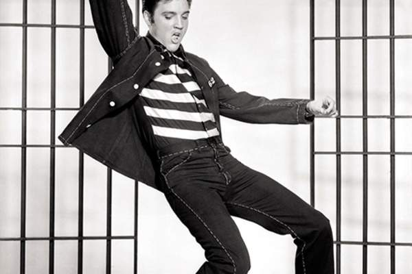 Elvis promotional photo for Jailhouse Rock, 1957