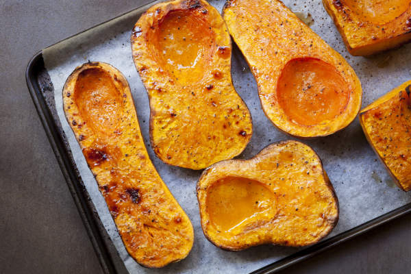Roasted winter squash.