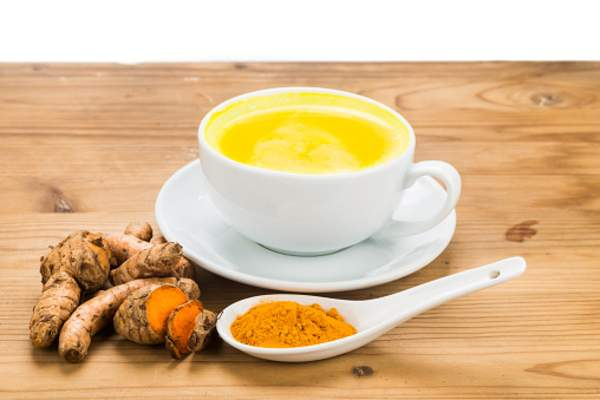 Tumeric with tea.