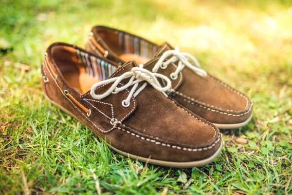 Comfortable moccasin loafers.