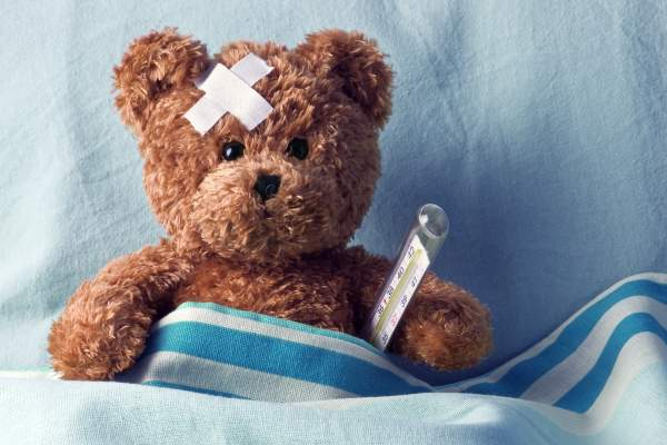 """Sick"" teddy bear."