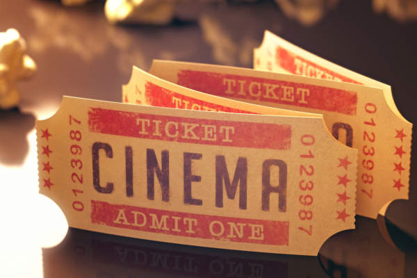 Cinema tickets.