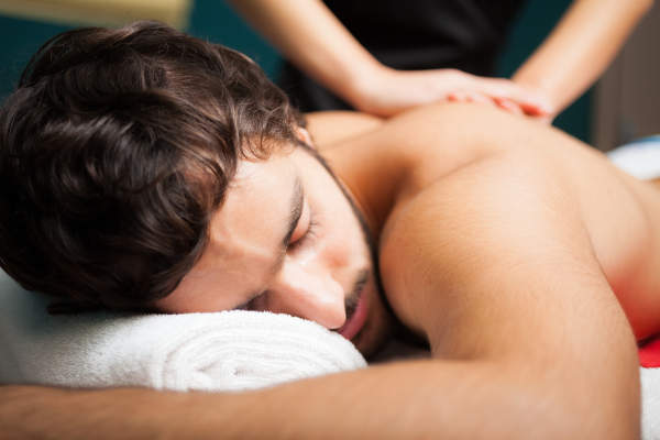 Man getting a relaxing massage.