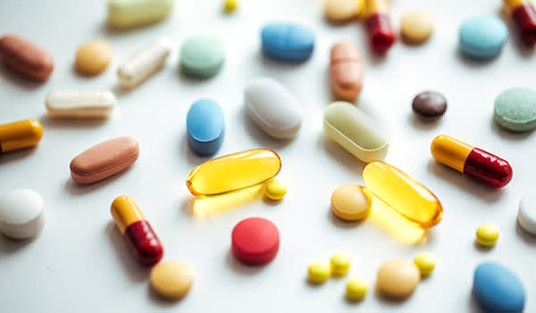 Various types of medications.