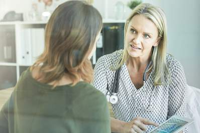 Doctor discussing treatment options with a patient.