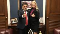 Rep. Gus Bilirakis, R-FL, and Candace Lerman on Capitol Hill.