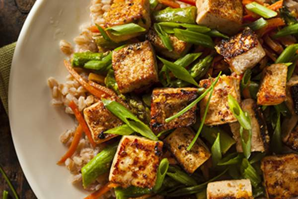 Healthy tofu stir fry.