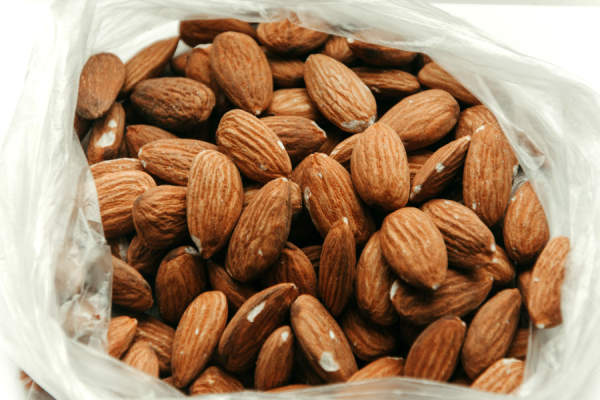 almonds in a bag