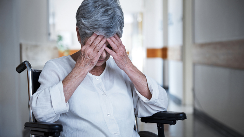 Stressed seniors with dementia.