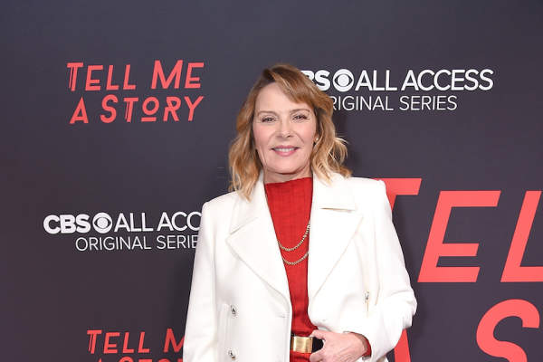 Actress Kim Cattrall attends the New York premiere of CBS All Access' 'Tell Me A Story' at Metrograph on October 23, 2018.