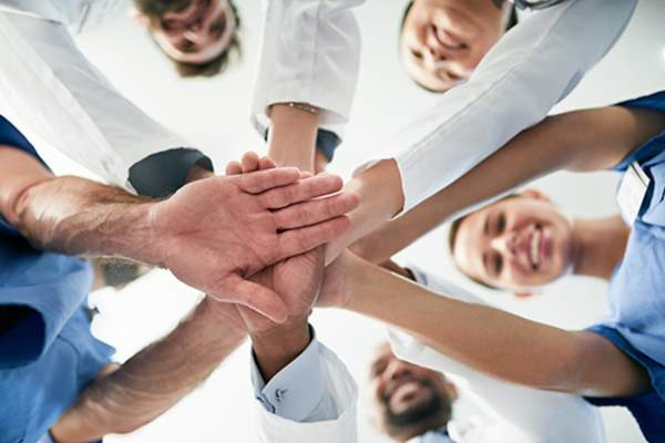 hands in collaboration image