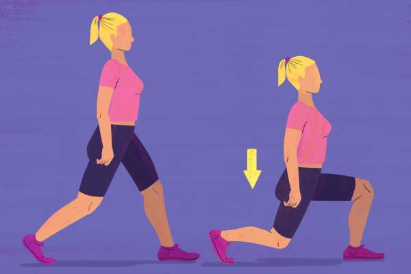 Stationary Lunge exercise illustration