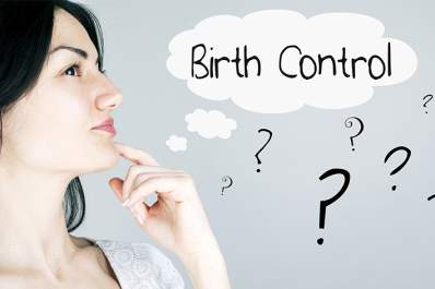 Woman thinking about birth control.