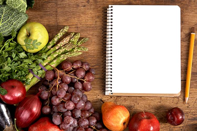 Fresh fruit and journal image
