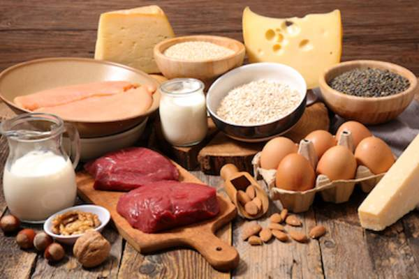 Foods high in protein, eggs, meat, cheese, soy, ect..
