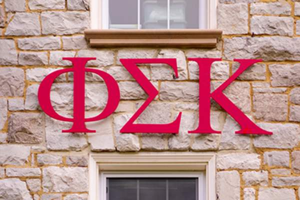 Phi Sigma Kappa fraternity sign.