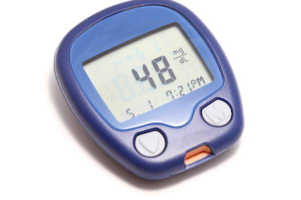 Low blood sugar, on monitor.