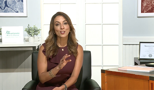 Screenshot of Neda Shamie, M.D., speaking during interview with HealthCentral.