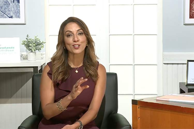Screenshot of Neda Shamie, M.D. speaking during the interview with HealthCentral.