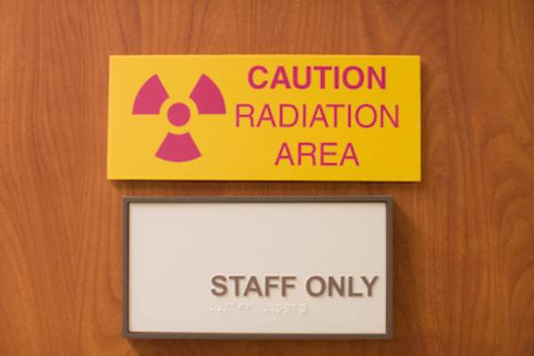 Radiation area, some danger to X-rays, but not severe