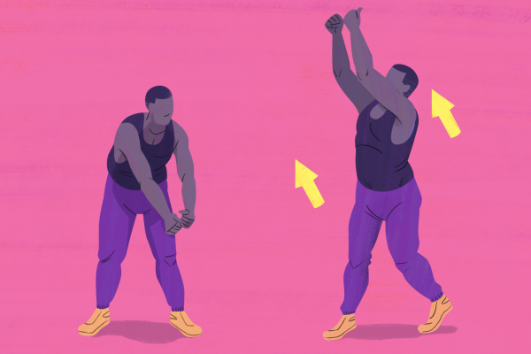 Standing Wood Chop exercise illustration