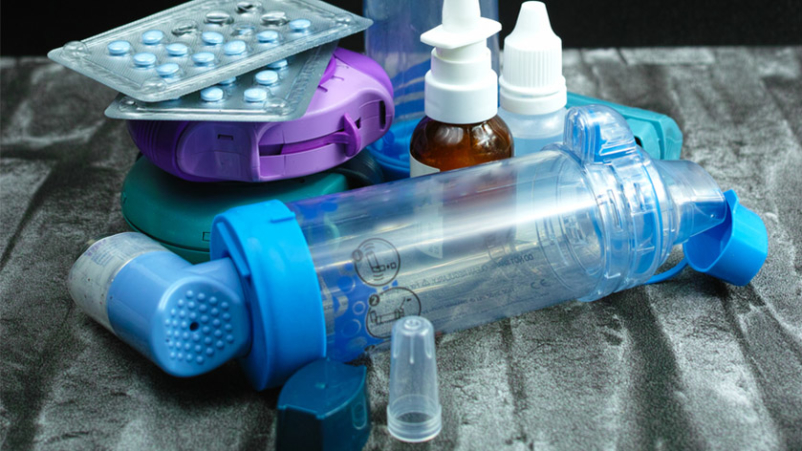 Asthma medicines and inhalers.