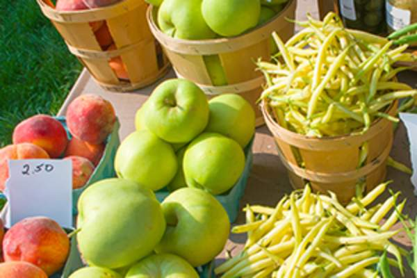 farmstand fruits and vegetables image