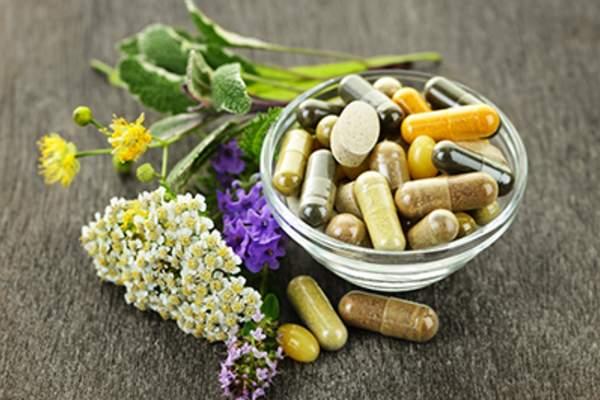 Herbal supplements and herbs.