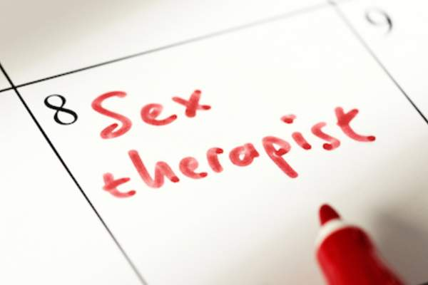 Sex therapist appointment on calendar