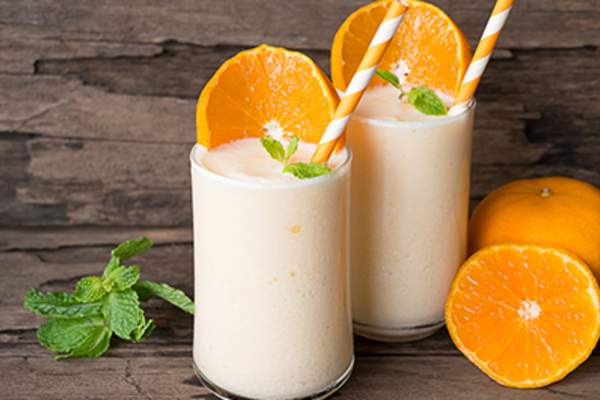 Orange smoothies.