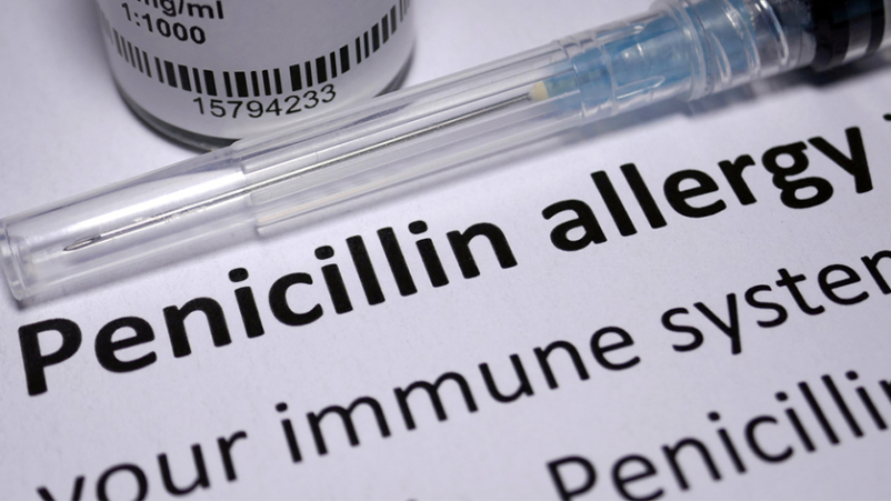 Penicillin allergy.