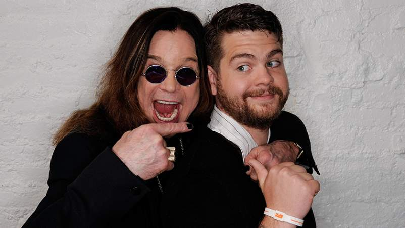 Ozzy Osbourne and son, producer Jack Osbourne visit the Tribeca Film Festival 2011
