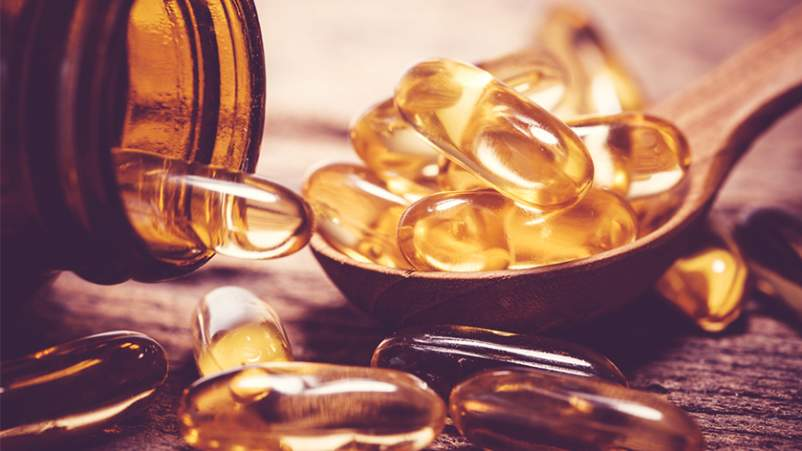 Omega 3 and vitamin D supplements.