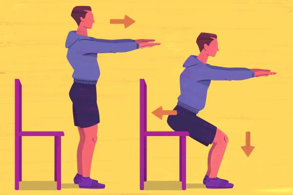 Sit-To-Stand exercise illustration