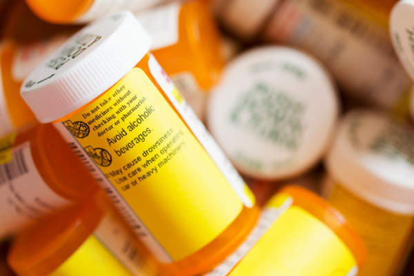 Prescription Medicine - Several Pill Bottles