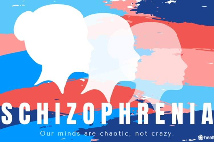 "Schizophrenia graphic reading ""Our minds are chaotic, not crazy"""