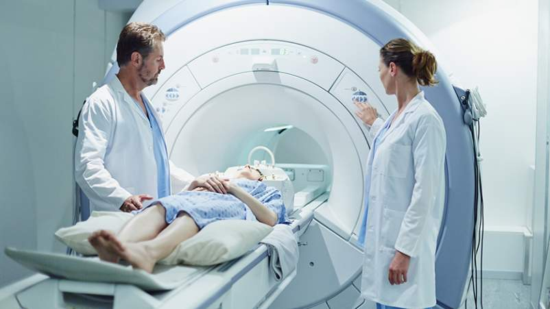 Patient getting an MRI.