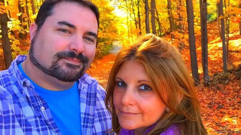Heather with her husband, Ken.