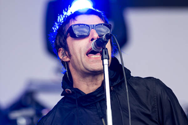 Liam Gallagher of 'Beady Eye' performs live on the Other Stage at day 2 of the 2013 Glastonbury Festival at Worthy Farm on June 28, 2013 in Glastonbury, England.