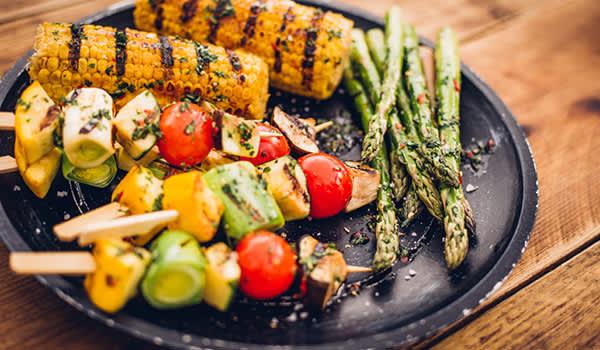 healthy food on the grill image