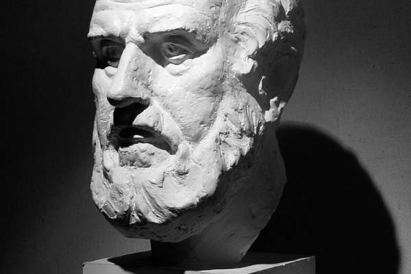 Bust of Hippocrates.