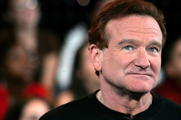 Actor Robin Williams appears onstage during MTV's Total Request Live at the MTV Times Square Studios.