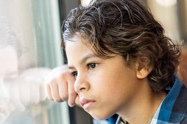 Boy with anxiety image.