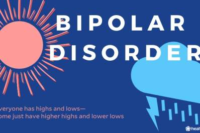 "Bipolar graphic reading: ""Everyone has highs and lows - some just have higher highs and lower lows"""