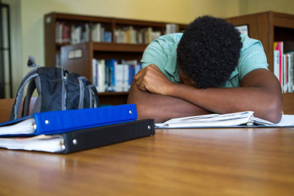 Student overwhelmed with homework