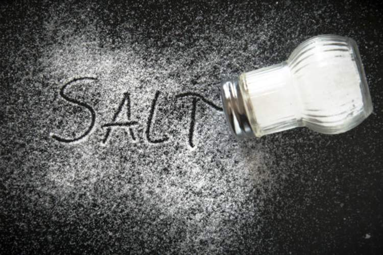salt spilled