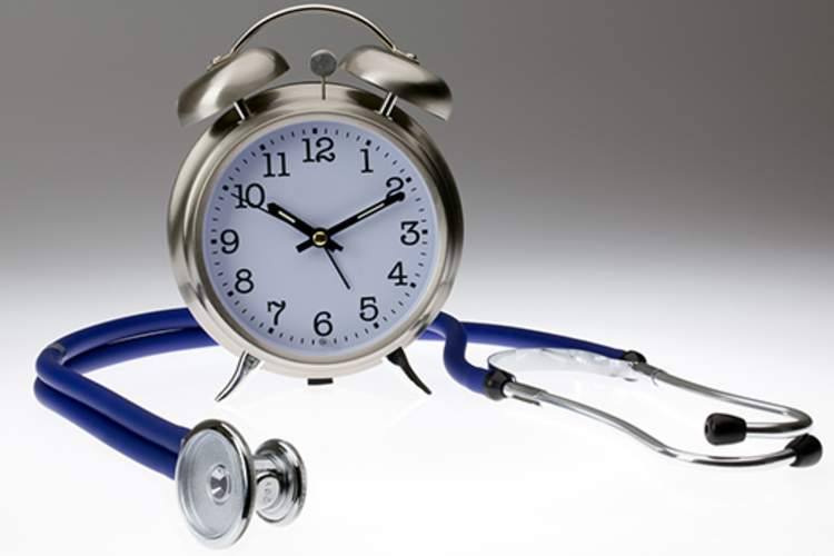 Clock and stethoscope.