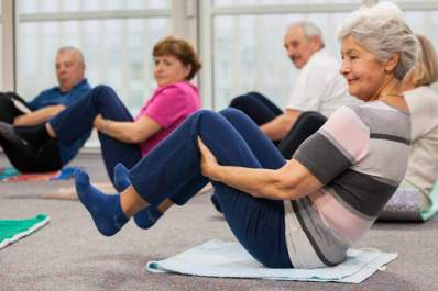 Exercise class for seniors